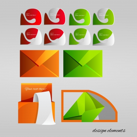 set of design elements. Vector