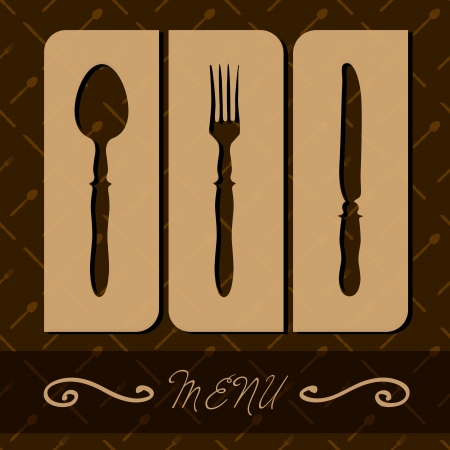 Restaurant menu with cutlery illustration. Vector
