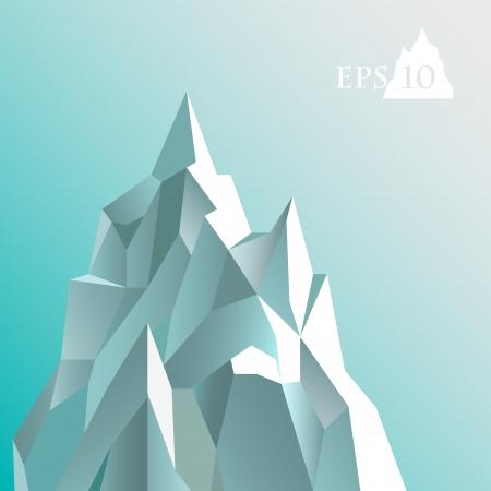 illustration of abstract iceberg. Illustration