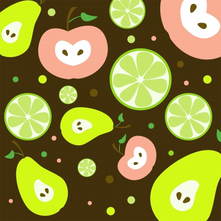 Fruits Seamless Pattern Illustration Vector