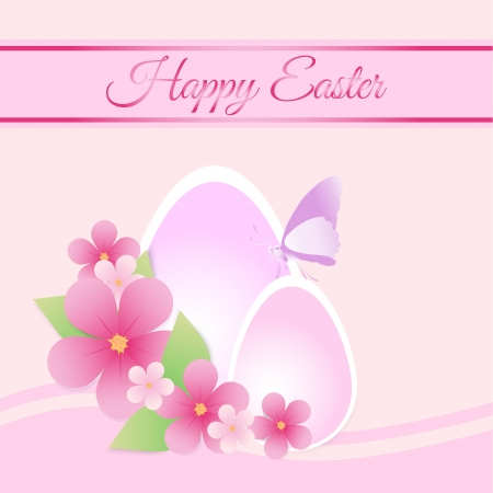 Happy Easter Card Illustration Vector