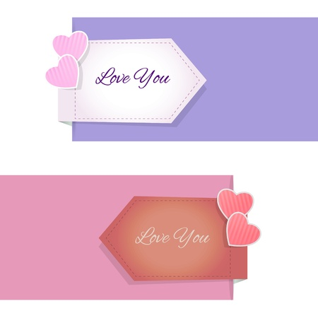 Valentine's Day design elements and banners Stock Vector - 19229166