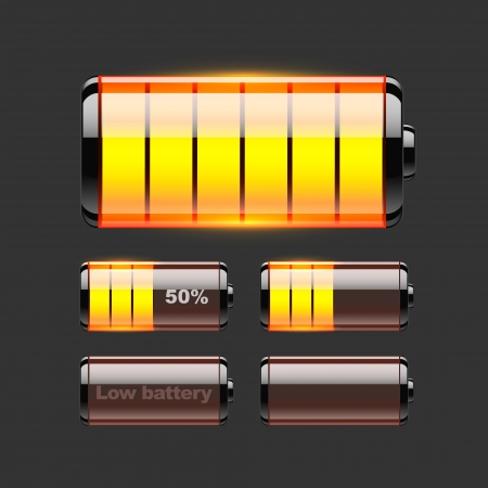 set of battery charge Stock Vector - 19229158