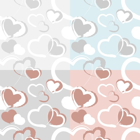 background with hearts. Vector