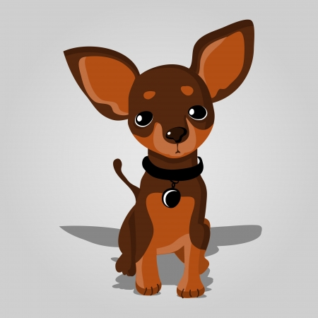 illustration of a cute dog. Vector