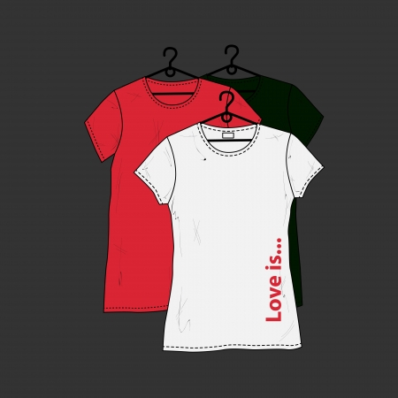 Womens t-shirt design template. Vector
