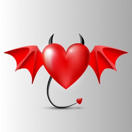 evil-heart Vector