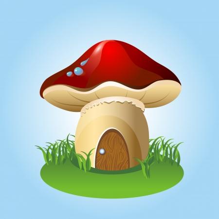 Mushroom home Vector