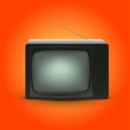 Retro tv illustration Stock Vector - 19229180