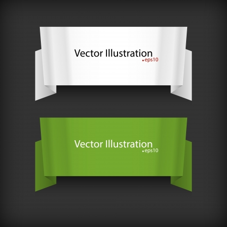 Set of two ribbons Vector