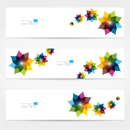 Collection of floral banners Stock Vector - 19229283