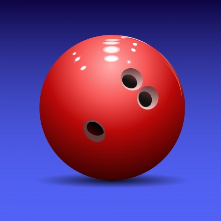 bowling ball on a blue background  Vector