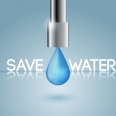 concept of water conservation Illustration
