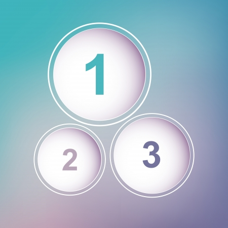 One two three circles Vector