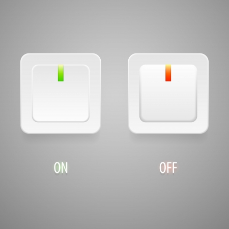 On and Off switch buttons Stock Vector - 19274146