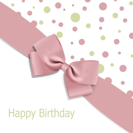 Vector birthday background with bow Vector