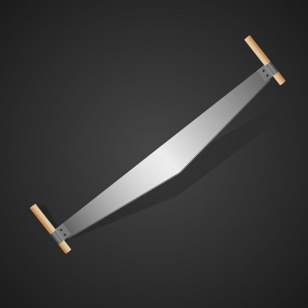 Hand Saw. Vector Illustration Vector