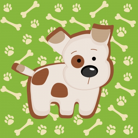 Cute vector puppy illustration  Vector