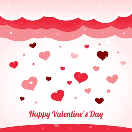 Vector valentine's background with hearts Stock Vector - 19274309