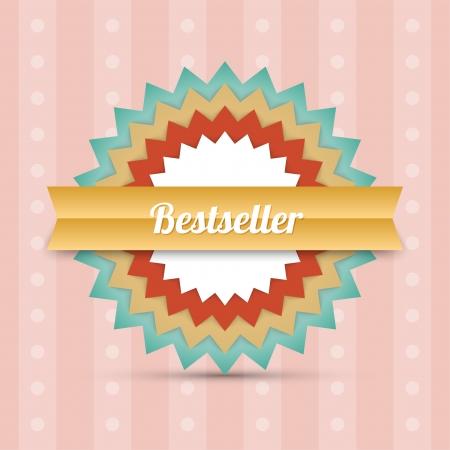 Label - Bestseller. Vector  Vector