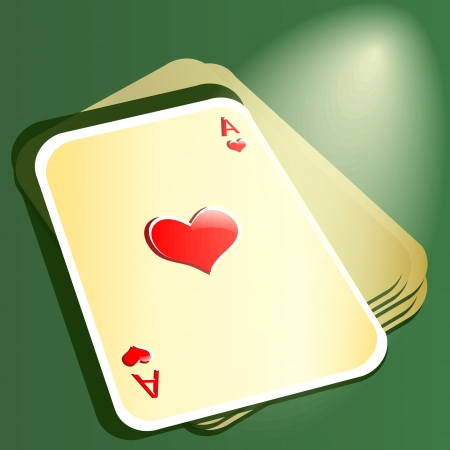 Pocker cards. Red ace. Vector illustration Stock Vector - 19274533