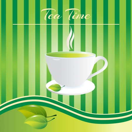 Cup of tea background. Vector illustration Vector