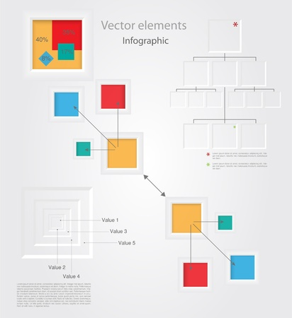 Set of Vector Infographic Elements Vector