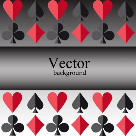 Vector background with card suits Vector