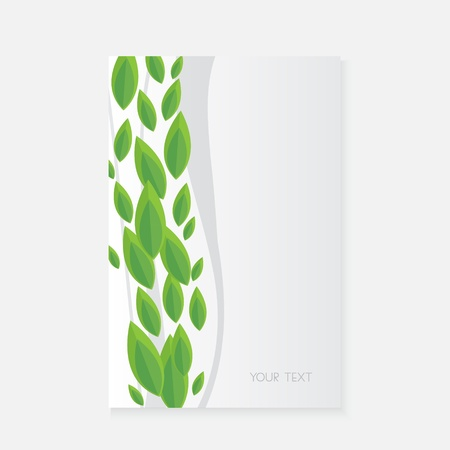 Vector banner with green leaves  Vector