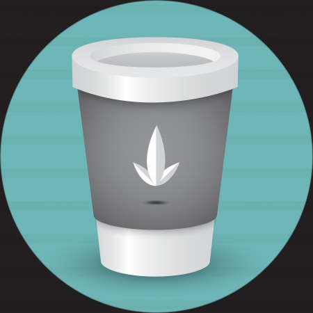 A coffee cup vector illustration Vector