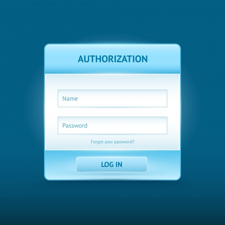 Login and register glossy web forms Vector