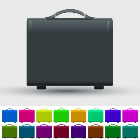 Set of travel suitcases Vector
