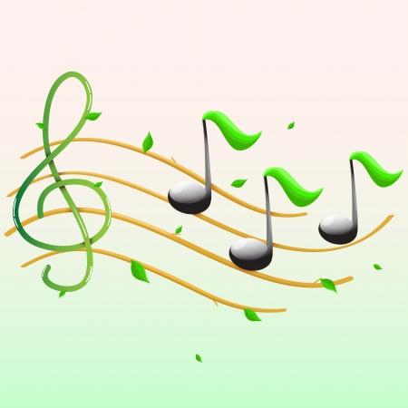Summer musical banner.Vector Vector