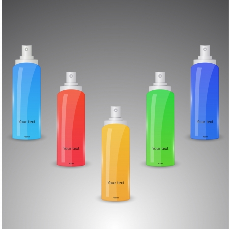 Collection of colorful spray bottles Vector