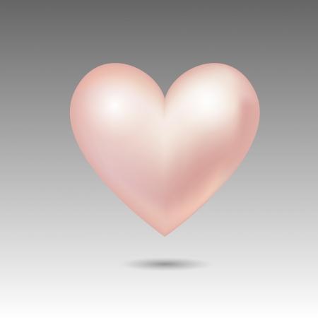 Vector pink glossy heart Stock Vector - 19274504