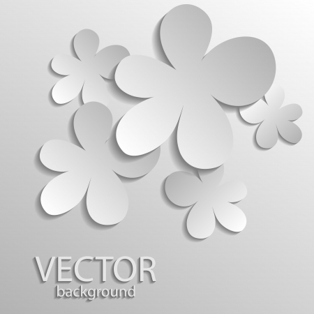 Vector illustration of silver clover Vector