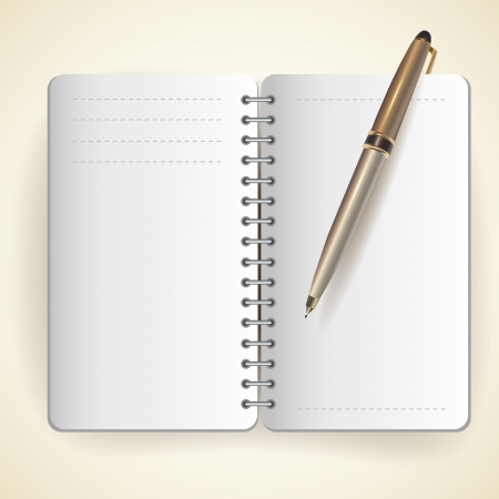 Vector of notepad and pen Stock Vector - 19307982