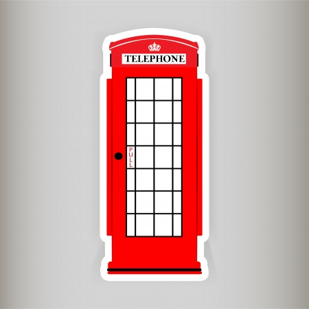 Phone booth, vector illustration  Vector