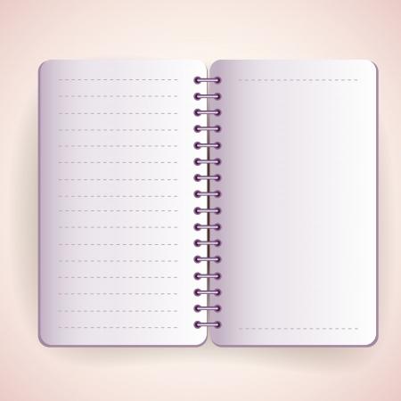 Vector open notepad Stock Vector - 19307904
