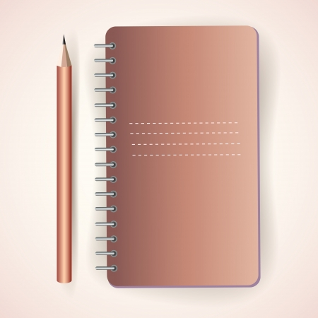 Vector pencil with notepad Stock Vector - 19307951