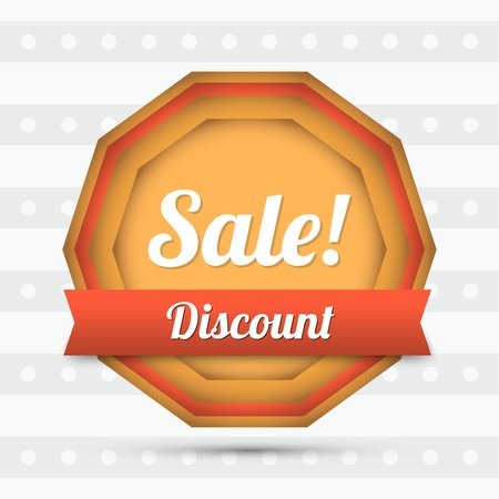 Vector sale label - Discount. Vector