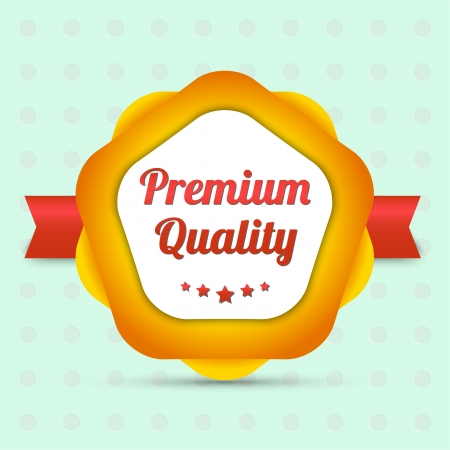 Premium quality label - Bestseller Vector