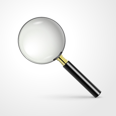 Realistic vector magnifying glass Illustration