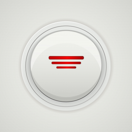 Vector power button design Vector