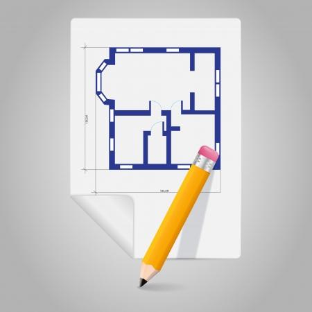 Vector architectural plan icon Vector