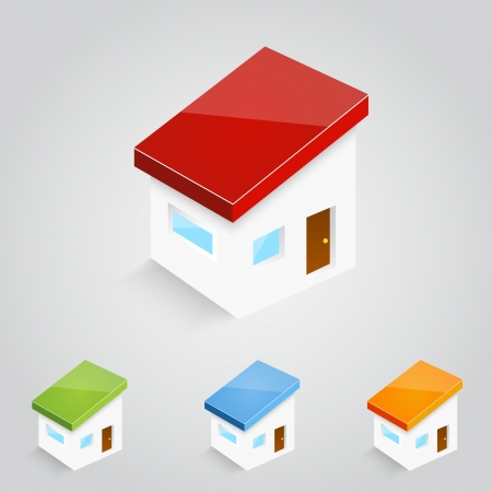 Set of vector house icons Vector