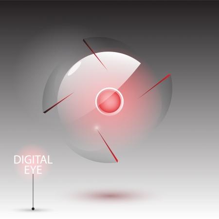 Digital eye (camera), vector Vector