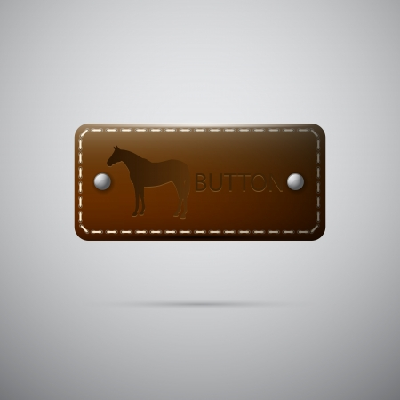Vector leather button Vector
