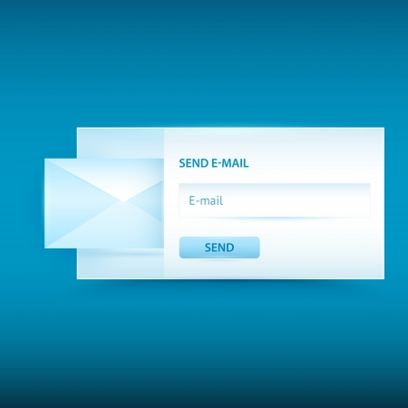 Vector email sending form Stock Vector - 19307892