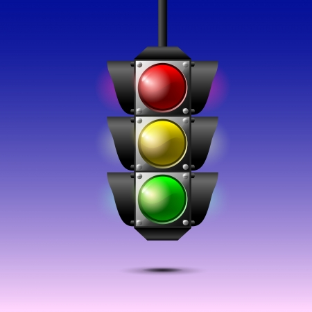 Traffic lights. Vector Stock Vector - 19307984